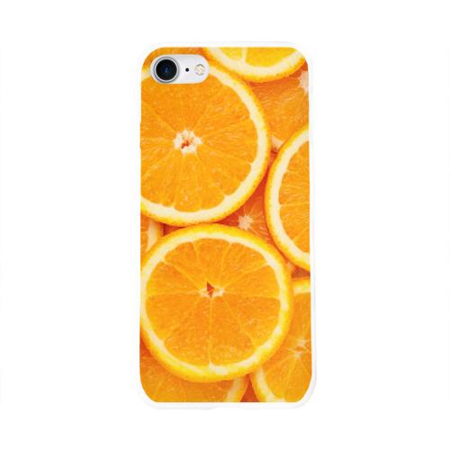 Чехол для Apple iPhone 8 силиконовый глянцевый  Фото 01, Апельсинчик
