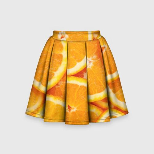 Детская юбка-солнце 3D Апельсинчик