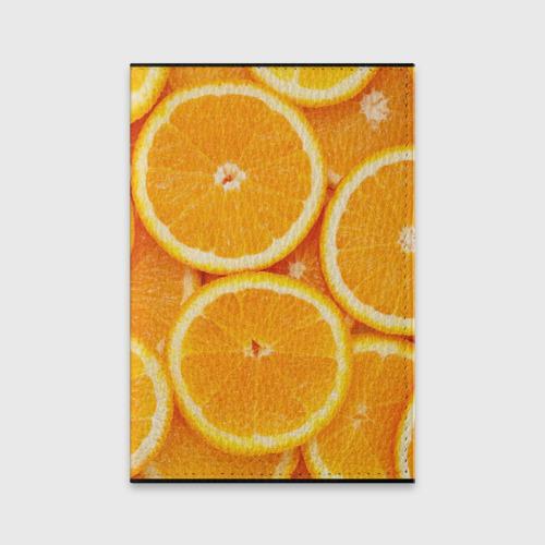 Обложка для паспорта матовая кожа  Фото 01, Апельсинчик