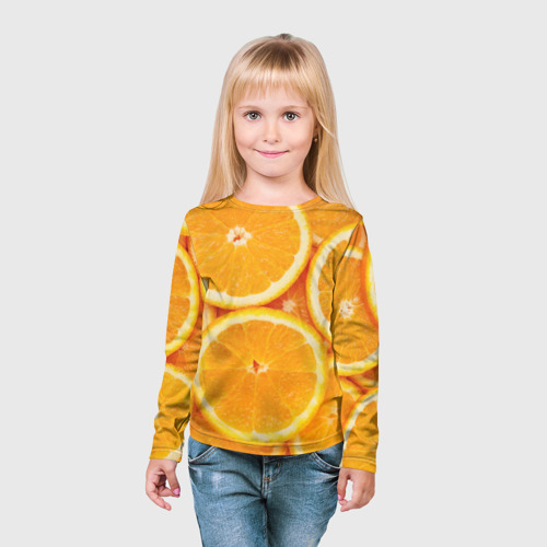 Детский лонгслив 3D  Фото 03, Апельсинчик