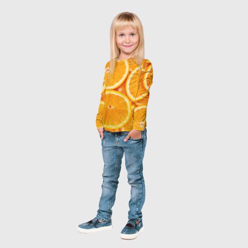 Детский лонгслив 3D  Фото 04, Апельсинчик