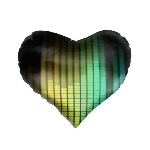 Подушка 3D сердце  Фото 01, Эквалайзер
