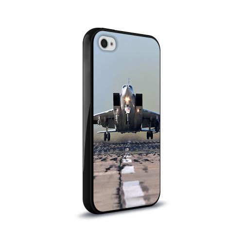 Чехол для Apple iPhone 4/4S силиконовый глянцевый  Фото 02, Самолёт