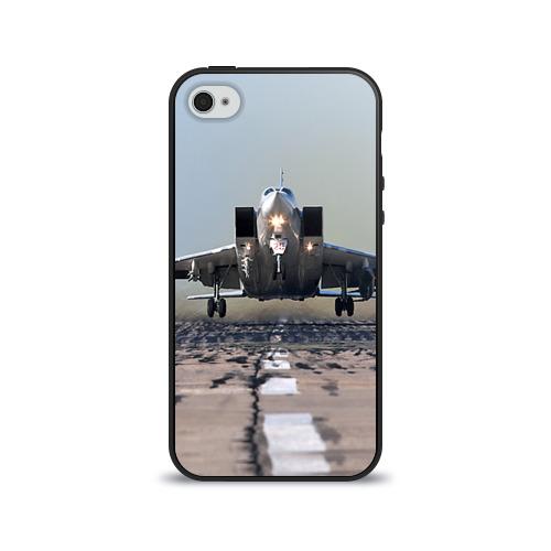 Чехол для Apple iPhone 4/4S силиконовый глянцевый  Фото 01, Самолёт