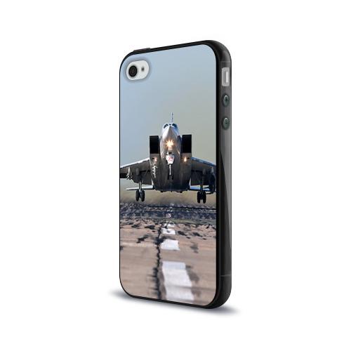 Чехол для Apple iPhone 4/4S силиконовый глянцевый  Фото 03, Самолёт