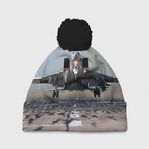Шапка 3D c помпоном Самолёт