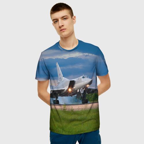 Мужская футболка 3D Самолёт Фото 01