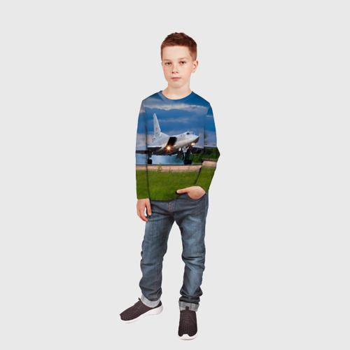 Детский лонгслив 3D  Фото 05, Самолёт