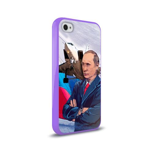 Чехол для Apple iPhone 4/4S силиконовый глянцевый  Фото 02, Путин
