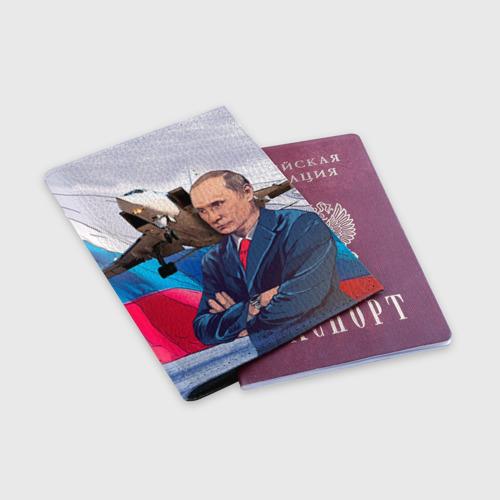 Обложка для паспорта матовая кожа  Фото 03, Путин