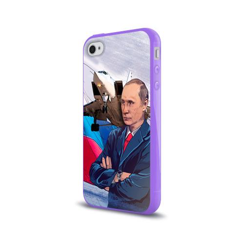 Чехол для Apple iPhone 4/4S силиконовый глянцевый  Фото 03, Путин