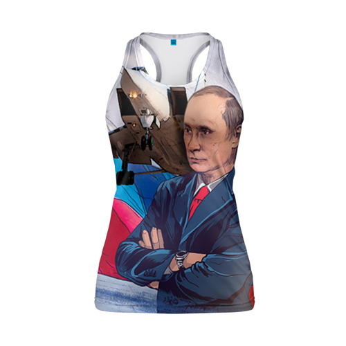 Женская майка 3D спортивная Путин