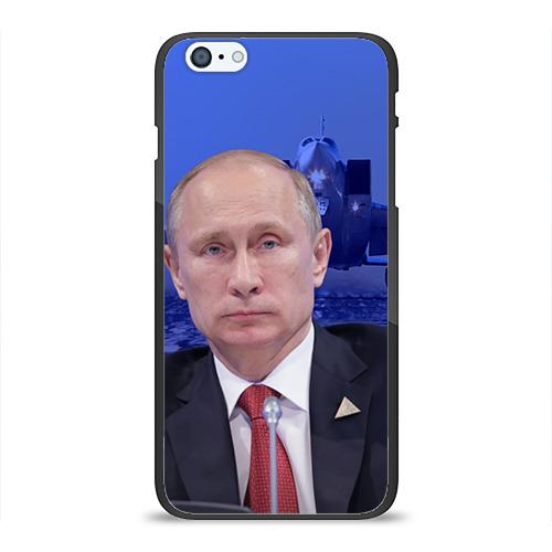 Чехол для Apple iPhone 6/6S Plus силиконовый глянцевый Путин от Всемайки