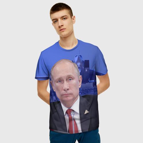 Мужская футболка 3D Путин Фото 01