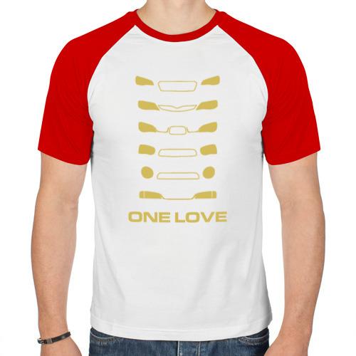 Мужская футболка реглан  Фото 01, Car one love