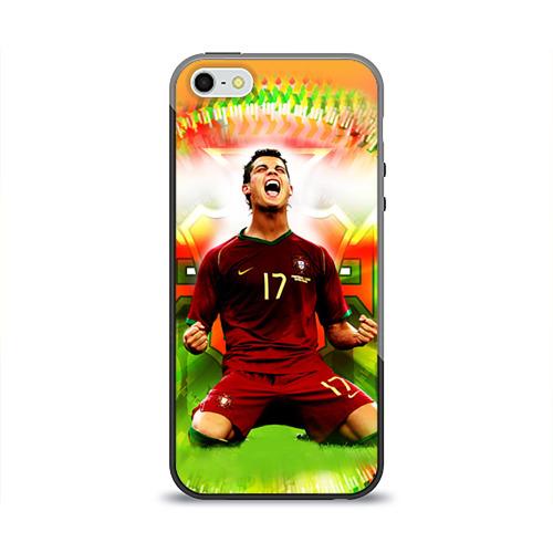 Чехол силиконовый глянцевый для Телефон Apple iPhone 5/5S Роналдо от Всемайки
