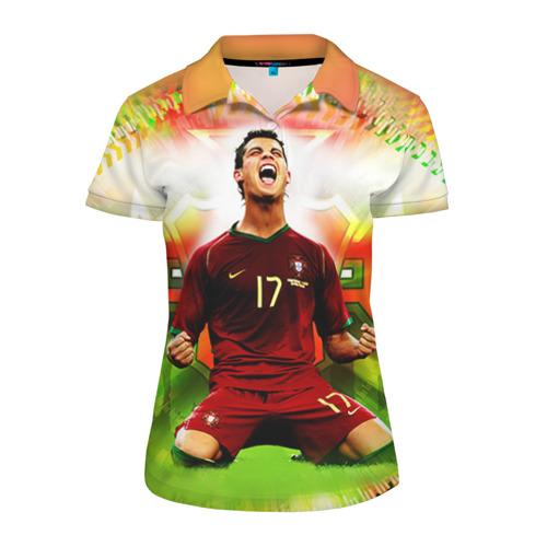 Женская рубашка поло 3D Роналдо