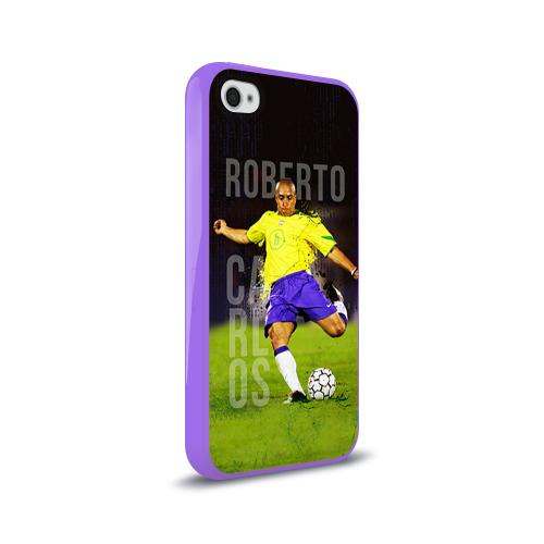 Чехол для Apple iPhone 4/4S силиконовый глянцевый  Фото 02, Roberto Carlos