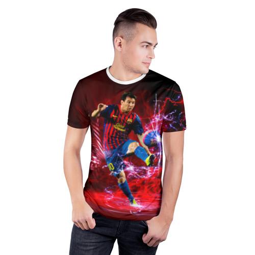 Мужская футболка 3D спортивная  Фото 03, Messi