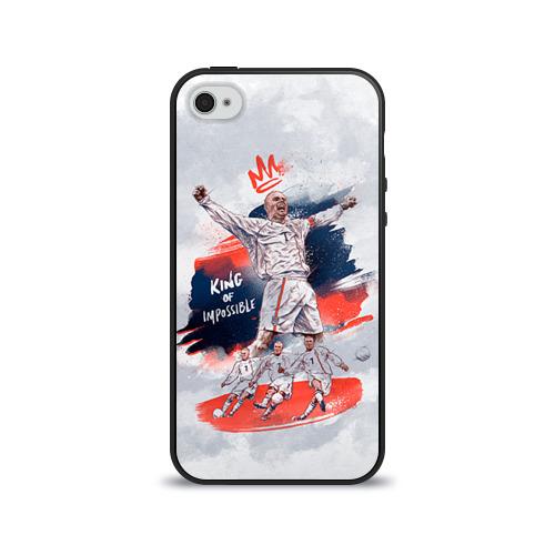 Чехол для Apple iPhone 4/4S силиконовый глянцевый  Фото 01, Beckham
