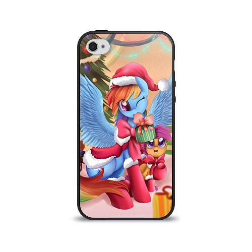 Чехол для Apple iPhone 4/4S силиконовый глянцевый  Фото 01, My Little Pony