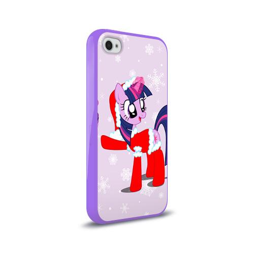 Чехол для Apple iPhone 4/4S силиконовый глянцевый  Фото 02, My Little Pony