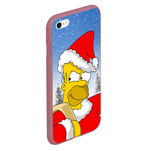Чехол для iPhone 6Plus/6S Plus матовый Санта Гомер Фото 01
