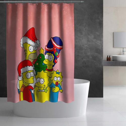 Штора 3D для ванной  Фото 03, NEW YEAR