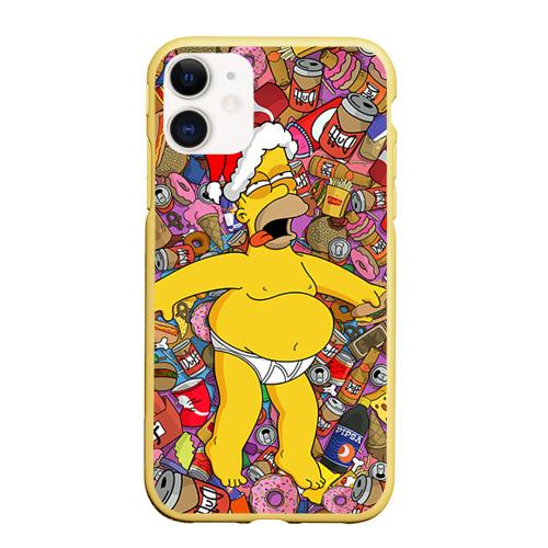 Чехол для iPhone 11 матовый Обжора Гомер Фото 01