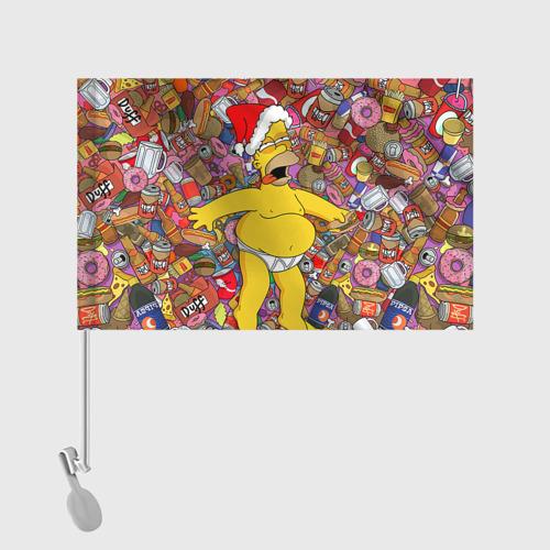 Флаг для автомобиля Обжора Гомер Фото 01