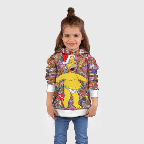 Детская толстовка 3D Обжора Гомер