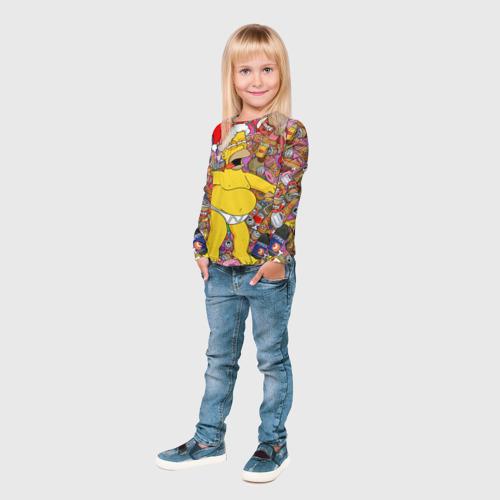 Детский лонгслив 3D  Фото 04, Обжора Гомер