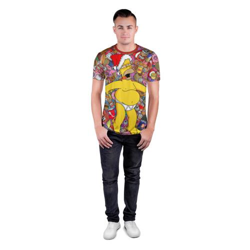 Мужская футболка 3D спортивная Обжора Гомер Фото 01