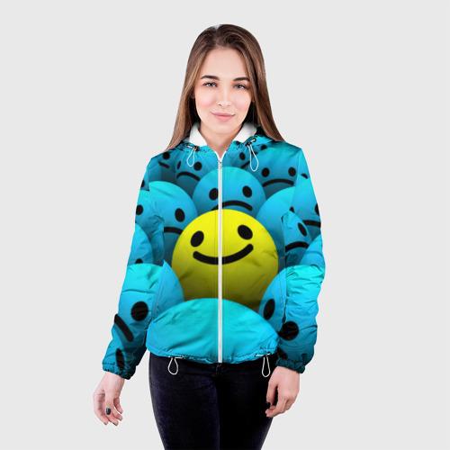 Женская куртка 3D  Фото 03, Смайлик
