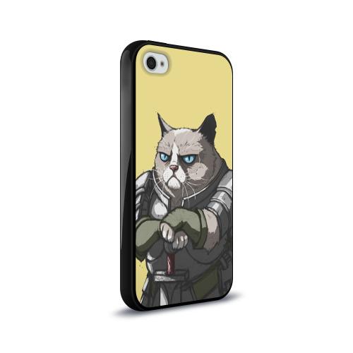 Чехол для Apple iPhone 4/4S силиконовый глянцевый  Фото 02, Кот