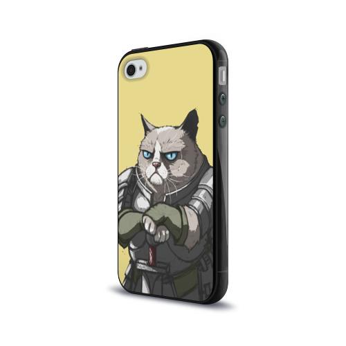 Чехол для Apple iPhone 4/4S силиконовый глянцевый  Фото 03, Кот