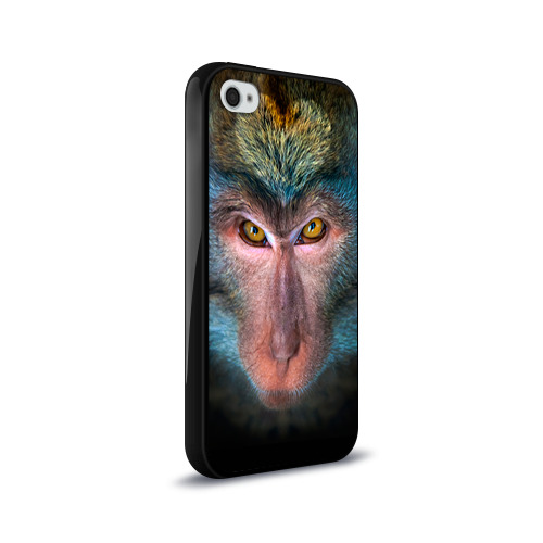 Чехол для Apple iPhone 4/4S силиконовый глянцевый  Фото 02, Обезьяна