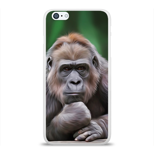Чехол для iPhone 6Plus/6S Plus глянцевый Обезьяна Фото 01