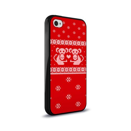 Чехол для Apple iPhone 4/4S силиконовый глянцевый  Фото 02, Свитер