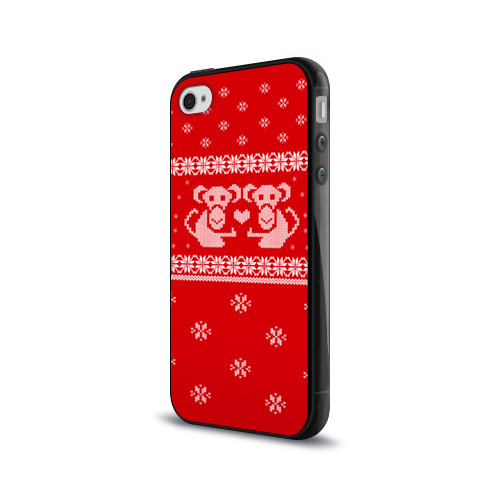 Чехол для Apple iPhone 4/4S силиконовый глянцевый  Фото 03, Свитер