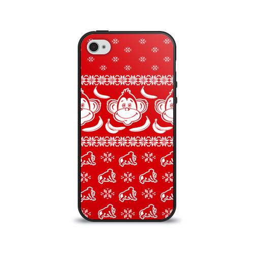Чехол для Apple iPhone 4/4S силиконовый глянцевый  Фото 01, Свитер обезьянки