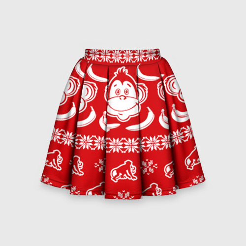 Детская юбка-солнце 3D Свитер обезьянки