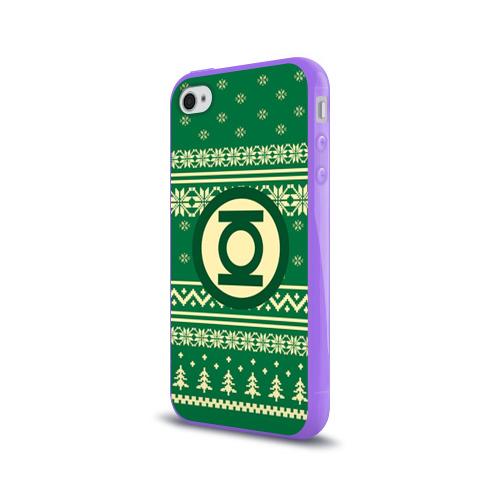 Чехол для Apple iPhone 4/4S силиконовый глянцевый  Фото 03, Свитер зелёный фонарь