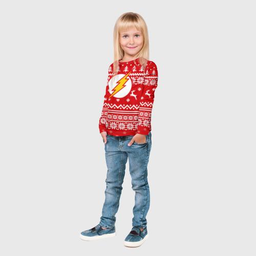 Детский лонгслив 3D  Фото 04, Свитер флеш