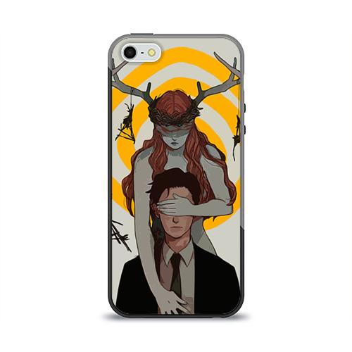 Чехол силиконовый глянцевый для Телефон Apple iPhone 5/5S Настоящий детектив от Всемайки
