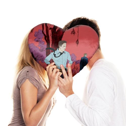 Подушка 3D сердце  Фото 03, Настоящий детектив