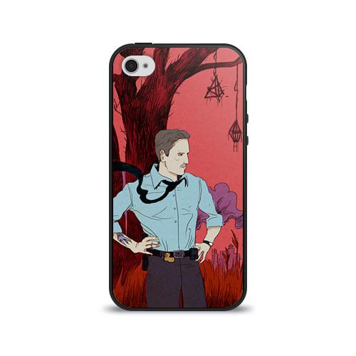 Чехол для Apple iPhone 4/4S силиконовый глянцевый  Фото 01, Настоящий детектив