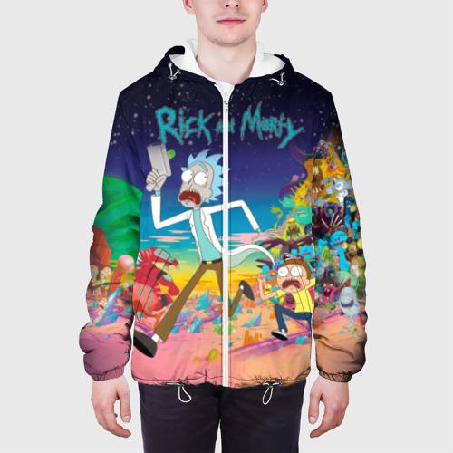 Мужская куртка 3D  Фото 04, Рик и Морти
