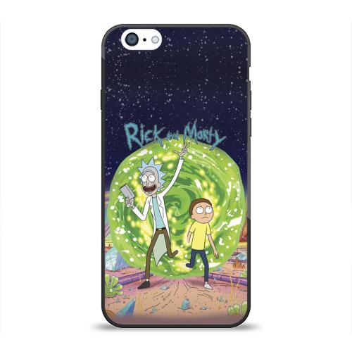 Чехол для Apple iPhone 6 силиконовый глянцевый Рик и Морти от Всемайки