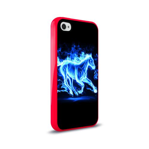 Чехол для Apple iPhone 4/4S силиконовый глянцевый  Фото 02, Ледяной конь